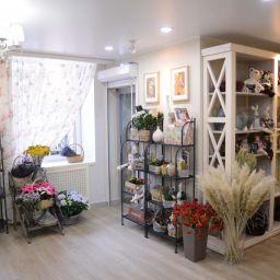 Цветочный магазин.  Голдобина Светлана. Пошив и фото штор в интерьере 2016