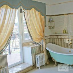 Ванная(Дом в Стрельне). Салон штор Студия Текстиля Ирины Аловой. Пошив и фото штор в интерьере 2016