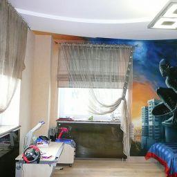 березовая роща. Дизайнер в салоне штор Смирнова татьяна. Пошив и фото штор в интерьере 2016