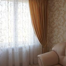 Квартира в IQ Гатчина. Частный дизайнер по шторам Басалаева Елена. Кухня. Пошив и фото штор в интерьере 2016