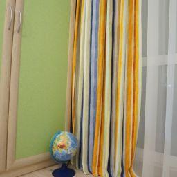 Квартира в ЖК Традиция Гатчина. Частный дизайнер по шторам Басалаева Елена. Кухня. Пошив и фото штор в интерьере 2016