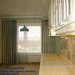 Кухни, столовые. Салон штор Alessandria. Пошив и фото штор в интерьере 2016
