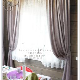 Белогорка Загородный дом. Частный дизайнер по шторам Басалаева Елена. Столовая. Пошив и фото штор в интерьере 2016