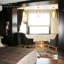 Спальня. Частный дизайнер по шторам Иванова Юлия. Спальня. Пошив и фото штор в интерьере 2016