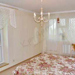 Спальня, Каховка. Частный дизайнер по шторам Круцько Тамара. Спальня. Пошив и фото штор в интерьере 2016