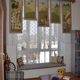 комната-офис. Гнездиковский переулок. Частный дизайнер по шторам Круцько Тамара. Гостиная. Пошив и фото штор в интерьере 2016