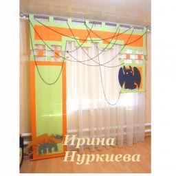 Шторы-панели для комнаты мальчика .  Нуркиева Ирина. Пошив и фото штор в интерьере 2016